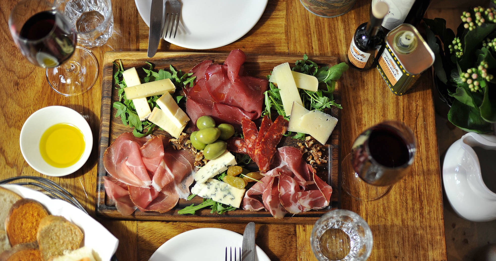 Rustic Italian Deli Dining Selection in Marylebone, London